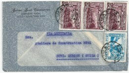 """Airmail Brief  """"Casanova, Ingeniero Textil, Lima"""" - Rüti            1938 - Pérou"""