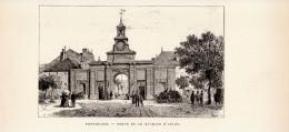 Gravure Sur Bois - 1904 - Pontarlier (Doubs) - La Porte De Le Michaud D'Arçon - Eugène Sadoux - FRANCO DE PORT - Prints & Engravings