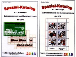 GDR/DDR Kataloge #1 Zusammendrucke Plus #2 Markenhefte 2016 New 50€ RICHTER Se-tenant+booklets Special Catalogue Germany - Telefoonkaarten