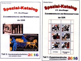 DDR Katalog #1 Zusammendrucke Plus #3 Sonder-Markenhefte 2016 Neu 50€ RICHTER Se-tenant+carnet Special Catalogue Germany - Télécartes