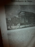 1833 LM :Maison Carrée à Nîmes;Chats Et Chats Sauvages (caractères);Le Rocher De Sainte-Elène; Bateau-vapeur; CORNEILLE - Vieux Papiers