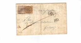 3668-Pontificio Lettera Per Firenze 22/10/1852 Sassone 4c+6 Manoscritto E Timbro Di Arrivo - Papal States