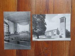 Deux Cartes     Allemagne- France      L'Eglise De La Paix Franco- Allemande St Bernard à Spire - Eglises Et Cathédrales