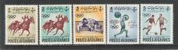 AFGHANISTAN - 1962: 5 Valori Nuovi Con T.l. - 4° GIOCHI OLIMPICI ASIATICI A DJAKARTA - In Buone Condizioni. - Giochi Olimpici