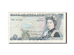 Grande-Bretagne, 5 Pounds, 1971-1982, KM:378e, 1987-1988, TB - 1952-… : Elizabeth II