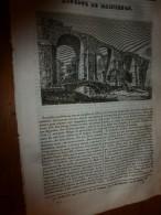 1833 LM : Aqueduc De MAINTENON,ouvrages à VERSAILLES;L'Epervier; Monument De Gustave-Adolphe; Voyage à TEMBOUCTOU,les F - Vieux Papiers