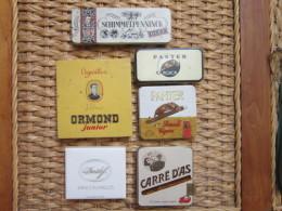 LOT De 6 Boîtes Cigarillos ( Panter Mignon, Ormond , Carré D'as , Shimelpenninck...) - Boites à Tabac Vides