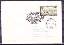 B-1102, Österreich, Stempel: Sonderpostbeförderung Attersee-Weyregg, Brief Nach Deutschland - Poststempel - Freistempel