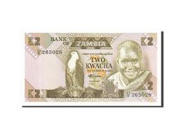 Zambie, 2 Kwacha, 1980-1988, KM:24c, Non Daté, NEUF - Zambie