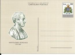 C50-51 - 2 CARTOLINE POSTALI SAN MARINO -PERSONAGGI - Entiers Postaux
