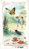 Chromo Chocolat Aiguebelle, Fables De Florian, Le Grillon ( Enfants, Chasse Au Papillon ) - Aiguebelle
