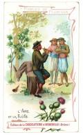Chromo Chocolat Aiguebelle, Fables De Florian, L'âne Et La Flûte - Aiguebelle