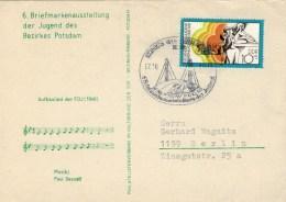 CARTOLINA  POSTALE   PER  BERLIN      (VIAGGIATA) - [6] Repubblica Democratica