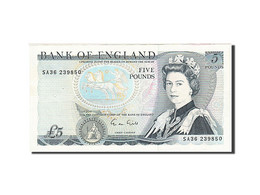 Grande-Bretagne, 5 Pounds, 1971-1982, KM:378f, 1988-1991, TTB - 1952-… : Elizabeth II