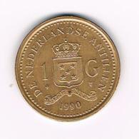***  NEDERLANDSE ANTILLEN   1  GULDEN  1990  BEATRIX - Antilles Neérlandaises