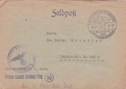 Feldpost WW2: To Croatia (around Agram) - Feldeisenbahn-Betriebs-Abteilung 22 FP 26248A From Reserve-Lazarett Altenberg/ - Militaria
