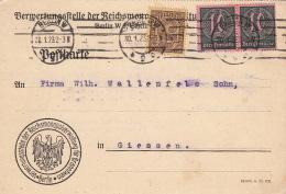 Postkarte CaD Berlin Pour Gienssen 1923