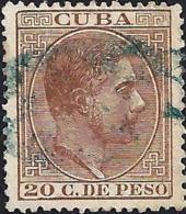 1882 ANTILLAS ESPAÑA SPAIN. 20 CENT CASTAÑO ROJIZO. EDIFIL 73. - Préphilatélie