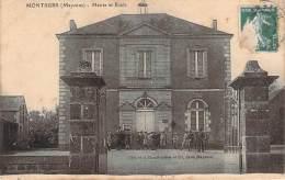 53 - Montsurs - Mairie Et Ecole - Autres Communes