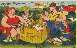 Carte à Système    Joyeux Pique-Nique!!! Sous Les Victuailles Vous Verrez  HONFLEUR - Honfleur