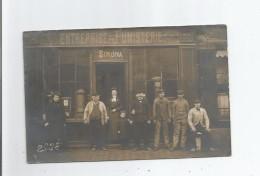 """BOURG LA REINE (92) CARTE PHOTO DE L'ENTREPRISE GENERALE DE FUMISTERIE ET CHAUFFAGE CENTRAL""""SIMONA"""" BELLE ANIMATION - Bourg La Reine"""