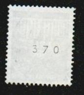 Deutschland 1966 Brandenburger Tor Mi 507 Gestempelt Mit Rückseitiger Nummer 370, 2 Scans, Yvert No. 369, 20 Pfg. - BRD