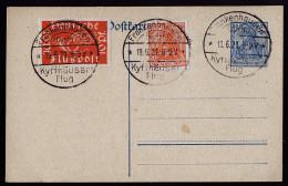 A3918) DR Karte Vom Kyffhäuser-Flug 19.6.21 Mit Mi.111 Ua. - Deutschland