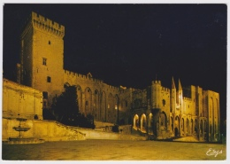 PALAIS DES PAPES, AVIGNON AT NIGHT. FRANCE. UNPOSTED - Avignon