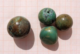 CINA (China): Fine Chinese Turquoise Old Beads - Arte Orientale