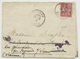 MAROC - 1915 - MOUCHON Sur ENVELOPPE De TETOUAN Pour PARIS REEXPEDIEE Dans La VIENNE - Morocco (1891-1956)