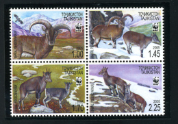 2005 - TAJIKISTAN -  Mi. Nr. 392/395 - NH -  (CAT 2016.1 WWF) - Tagikistan