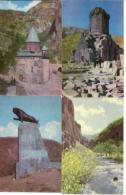 Set Armenia Postcards - 15 Pieces - 1972 - Tourism - Architecture - Mountain - People - Monuments - Armenië