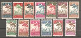 Serie Nº Timbre Taxa 26/38 Nueva Caledonia - Animalez De Caza