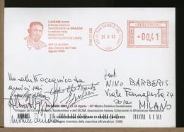 ITALIA - SAN DANIELE - CONTE DETALMO SAVORGNAN Di BRAZZA´ Inventore Della MACCHINA AFFRANCATRICE - Affrancature Meccaniche Rosse (EMA)