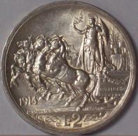 VITTORIO EMANUELE III 2 Lire 1914 Quadriga Briosa - Argento - 1861-1946 : Regno