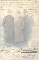 3 FESTEJANTES EMPRESARIOS Y POLITICOS PARAGUAYOS EN 1904 LE ENVIAN ESTA FOTOGRAFIA RARA DE LA SOCIETE LUMIERE DE LYON - Autographes