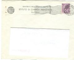 PADOVA - UNIVERSITA' - ISTITUTO CHIMICA INUSTRIALE, BUSTA VIAGGIATA  1957, TIMBRO POSTE PADOVA, ESTE - Publicités