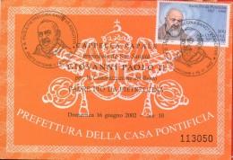 PIA - ITA - 16.VI.2002 :  Canonizzazione Di Padre Pio Da Pietrelcina - (SAS : ITA  2631 + VAT  1147 ) - Ganzsachen
