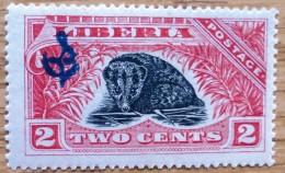 1918 Liberia Mint-hinged  Stamp 2 Cent Official  Sc 164 No LB-109 - Liberia