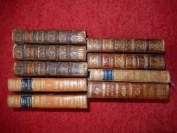 LOT DE 9 VOLUMES XVIII° ( RELIGIEUX) RELIURE ANCIENNE) - Books, Magazines, Comics