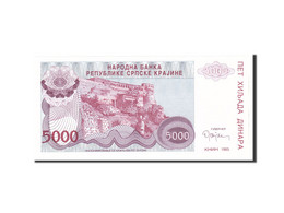 Croatie, 5000 Dinara, 1993, KM:R20a, Undated, NEUF - Croatie