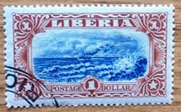 1918 Liberia Used  Stamp 1 Dollar Sc 173 No LB-113 - Liberia
