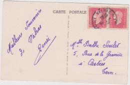 1946 Dulac  Sur Carte De Valras Plage Skirado - 1944-45 Marianne Van Dulac
