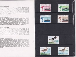 Faroe, 1977 Yearset, Mint In Folder, Fishing Boats And Birds, 2 Scans.  Michel 24-30 - Isole Faroer