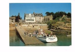 """22 - ILE DE BREHAT - Bateau - Vedette """"MESSALINE"""" PAIMPOL - Au Port - Animation - HOTEL BELLEVUE - N°376/22 - Ile De Bréhat"""
