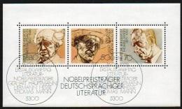 Deutschland 1978 Michel Nr. 959, 960, 961 Block 16 Block16 FDC Gestempelt Mit Originalgummi, Nobelpreisträger - Blocks & Kleinbögen