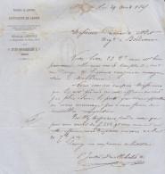 LAC Vve Devillebichot & Cie, Liqueurs, Cassis, N°22 GC, T15 Dijon Côte D'Or  1865 (2 Scans) - 1849-1876: Classic Period