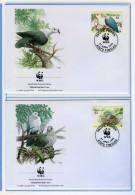 1995 - TOKELAU - Mi. Nr. 210/213 - OFFICIAL FDC - (CAT 2016.2 WWF) - Tokelau