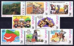 E+ Spanien 2000 Mi 3562 3567-68 3582-84 3586 3588 Mnh Verschiedene Marken - 1931-Hoy: 2ª República - ... Juan Carlos I
