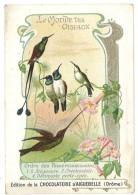 Chromo Chocolat Aiguebelle, Le Monde Des Oiseaux - Ordre Des Passereaux, Stéganure, Docimaste ... Colibris - Aiguebelle